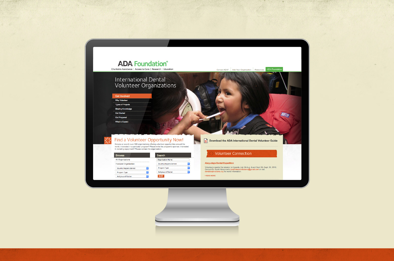 International Dental Volunteer Website Image