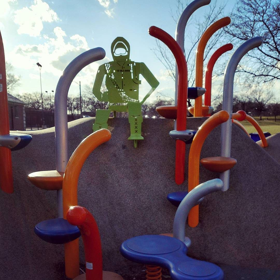 Always cool to come across one of the amazing playgrounds designed by our friends at @sitedesigngroup ?? . .